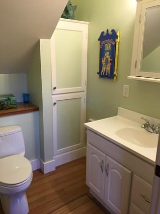 Nantucket town Nantucket vacation rental - Upstairs bathroom off master bedroom with tub/shower