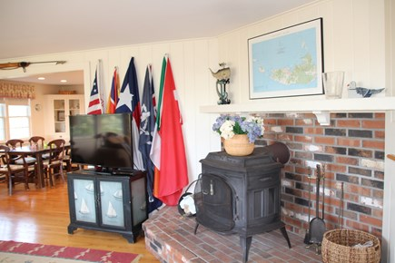 Madaket, Nantucket Nantucket vacation rental - Living room and WBF, flags for your flagpole!