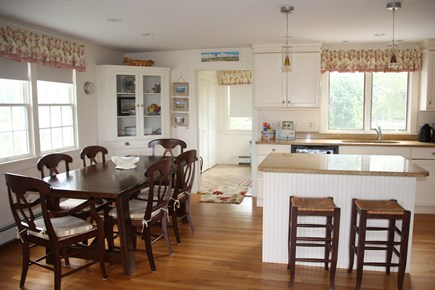 Madaket, Nantucket Nantucket vacation rental - Dining area and part of kitchen Expandable table for meals and g