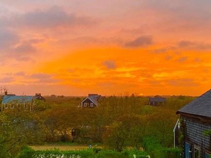 Tom Nevers, Nantucket Nantucket vacation rental - Sunset from upper deck.