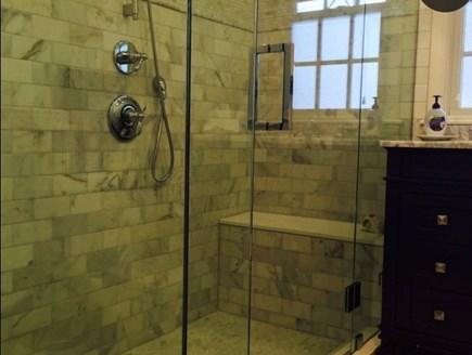 Tom Nevers, Nantucket Nantucket vacation rental - Master bathroom; additional bathroom upstairs and outdoor shower