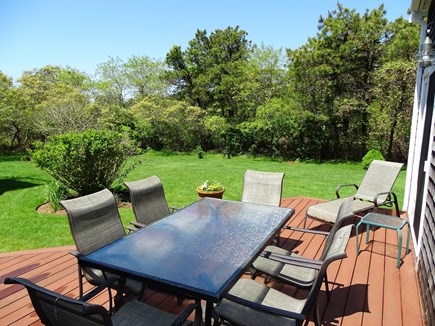 Nantucket town Nantucket vacation rental - Lovely deck area, showing big private back yard