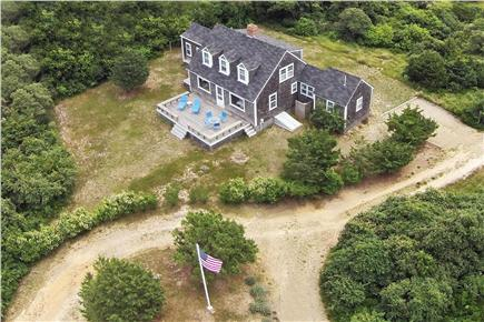 Shimmo Nantucket vacation rental - Overhead view of the house facing harbor
