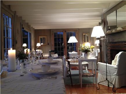 Shimmo Nantucket vacation rental - Living Room in evening