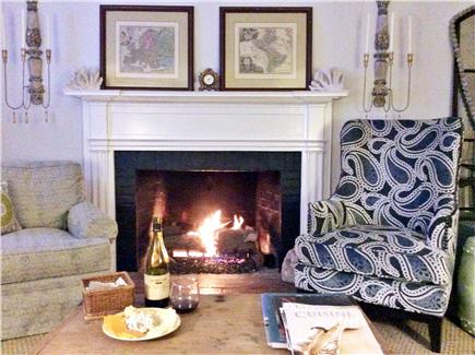 Nantucket Town Nantucket vacation rental - Enjoy the fire in the living room