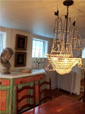Nantucket Town Nantucket vacation rental - Dining room with ship chandalier