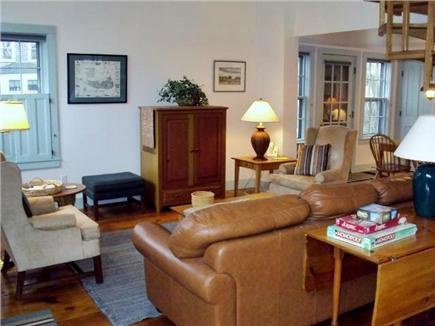 Nantucket town Nantucket vacation rental - Living room with cathedral ceiling.
