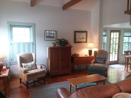 Nantucket town Nantucket vacation rental - Living room with Patio Door to the right.