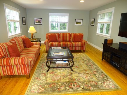 Mid-island, Nantucket, MA Nantucket vacation rental - Large living room offers flat screen TV, ample seating