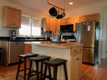 Madaket, Nantucket Nantucket vacation rental - Second floor, fully equipped kitchen with breakfast bar.