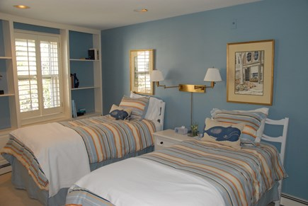 Nantucket town, Nantucket Nantucket vacation rental - Twin bedroom. Large closet with terry robes across from full bath