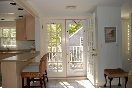 Nantucket town, Nantucket Nantucket vacation rental - French doors leading to the porch from the kitchen