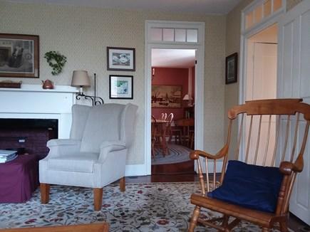 Nantucket town Nantucket vacation rental - Livingroom Showing Door to Dining Room