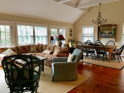 Surfside, Nantucket Nantucket vacation rental - Light-filled open living/dining rm opens to deck withgas grill.