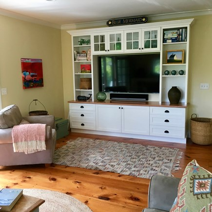 Surfside, Nantucket Nantucket vacation rental - Family room entertainment center features Sonos sound system.