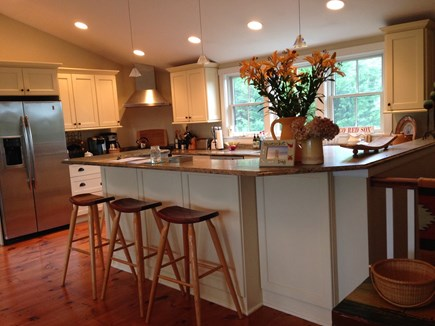 Surfside, Nantucket Nantucket vacation rental - Open kitchen with granite counters and bar.