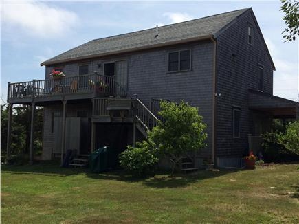 Madaket Nantucket vacation rental - Back yard & outdoor shower