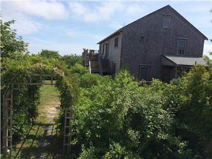 Madaket Nantucket vacation rental - Deck overloooks yard & offers sunset views of Madaket Harbor