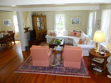 Nantucket town Nantucket vacation rental - Spacious living room with flat screen TV
