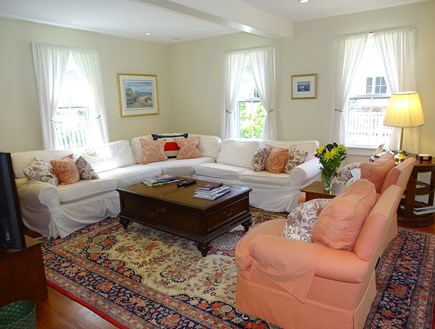 Nantucket town Nantucket vacation rental - Comfortable living area adjacent to dining room