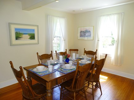 Nantucket town Nantucket vacation rental - Dining area can accommodate 8 people