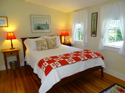 Nantucket town Nantucket vacation rental - First floor queen bedroom with door to back deck