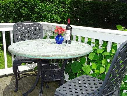 Nantucket town Nantucket vacation rental - Small deck off first floor bedroom, great for morning coffee