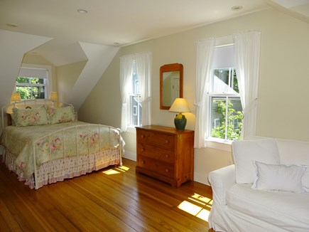 Nantucket town Nantucket vacation rental - Upstairs queen bedroom with sitting area, flat screen TV
