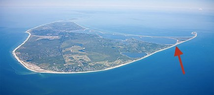 Wauwinet Nantucket vacation rental - Aerial view showing location