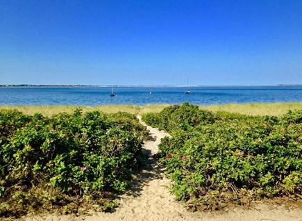 Wauwinet Nantucket vacation rental - Walkway to the Bay