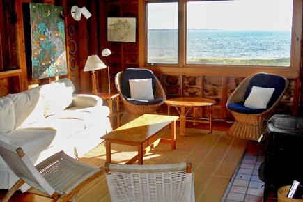 Wauwinet Nantucket vacation rental - Sunny living area with amazing water views