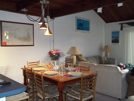 Madaket, Nantucket Nantucket vacation rental - Dining area toward living area