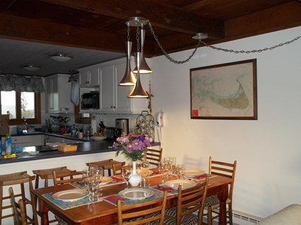 Madaket, Nantucket Nantucket vacation rental - Dining area toward kitchen