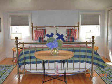 Tom Nevers, Siasconet Nantucket vacation rental - King Bedroom in Carriage House overlooking Pool