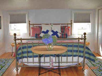 Tom Nevers, Siasconet Nantucket vacation rental - King Bedroom in Carriage House overlooking Pool