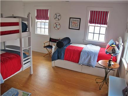 Mid-island - Naushop Nantucket vacation rental - Bunkroom shown w/o new carpet
