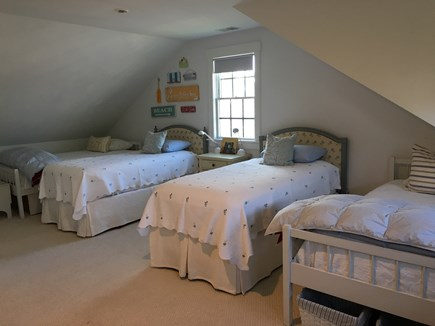 Mid-island - Naushop Nantucket vacation rental - Third floor w/ 4 single beds plus area w/ queen sleeper couch