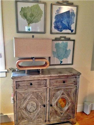 Mid-island - Naushop Nantucket vacation rental - One piece of new furniture and art work in family room