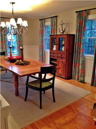 Mid-island - Naushop Nantucket vacation rental - Newly painted Dining room w/ new curtains, new carpet and motif
