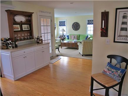 Mid-island - Naushop Nantucket vacation rental - View into family room (from Kitchen)