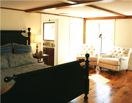 Nantucket town Nantucket vacation rental - Master Bedroom w/King bed, hi-def TV,ensuite bath&sitting room