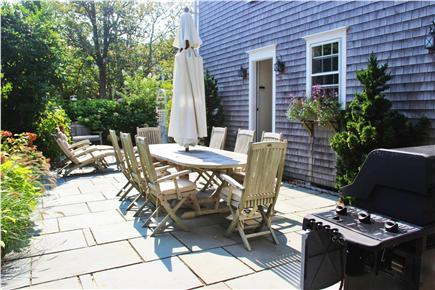 Nantucket town Nantucket vacation rental - Bluestone Patio w/ lovely outdoor furniture for dining & relaxing