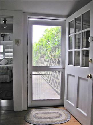 Siasconset, Sconset Nantucket vacation rental - Front door leading to relaxing private patio