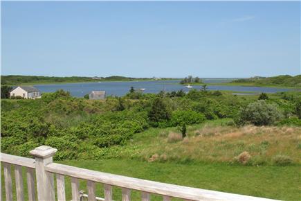 Polpis, Nantucket Nantucket vacation rental - Spectacular view of harbor from upper deck, off king bedroom
