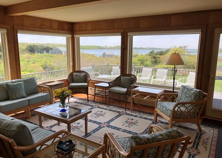 Polpis, Nantucket Nantucket vacation rental - Bright, open sun room w/ panoramic water view & entrance to deck