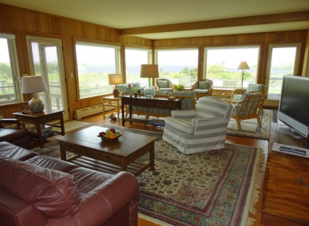 Polpis, Nantucket Nantucket vacation rental - Full view of sun room overlooking West Polpis harbor