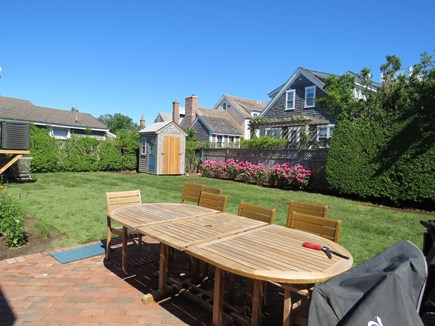 Brant Point Nantucket vacation rental - Back patio with dining area