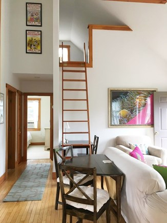 Siasconset, Sconset Nantucket vacation rental - Ship ladder to loft with 2 twin beds