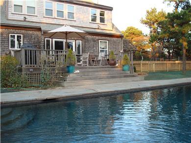 Mid-island, Edge of town Nantucket vacation rental - Back Deck