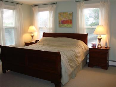Mid-island, Edge of town Nantucket vacation rental - Master with King Bed